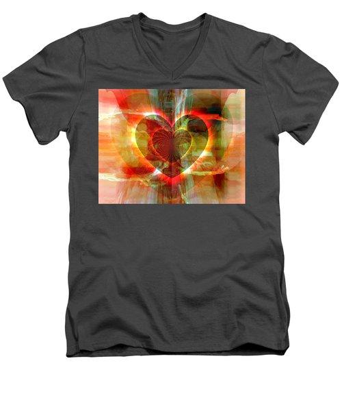 A Forgiving Heart Men's V-Neck T-Shirt by Fania Simon