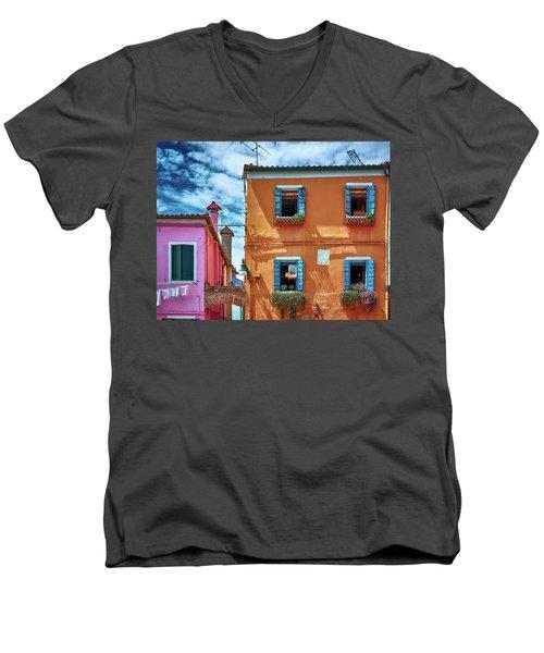 A Fragment Of Color Men's V-Neck T-Shirt