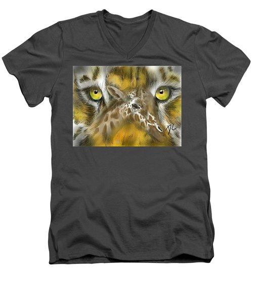 A Friend For Lunch Men's V-Neck T-Shirt