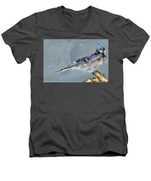 Men's V-Neck T-Shirt featuring the digital art A Friend For Lunch Three by Darren Cannell