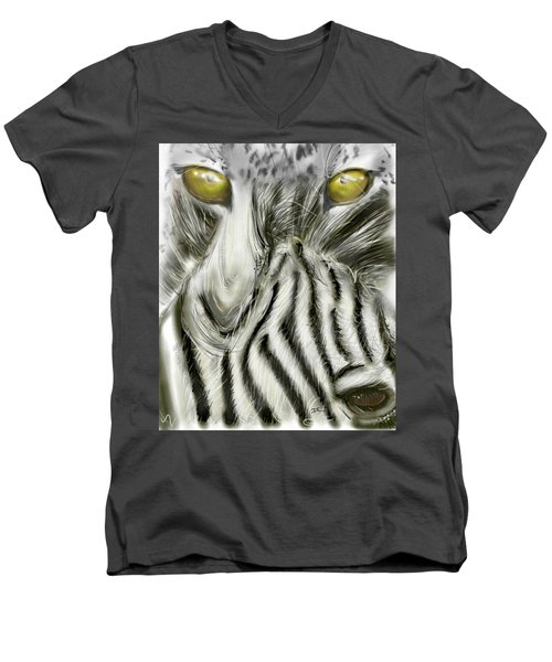 A Friend For Lunch Two Men's V-Neck T-Shirt