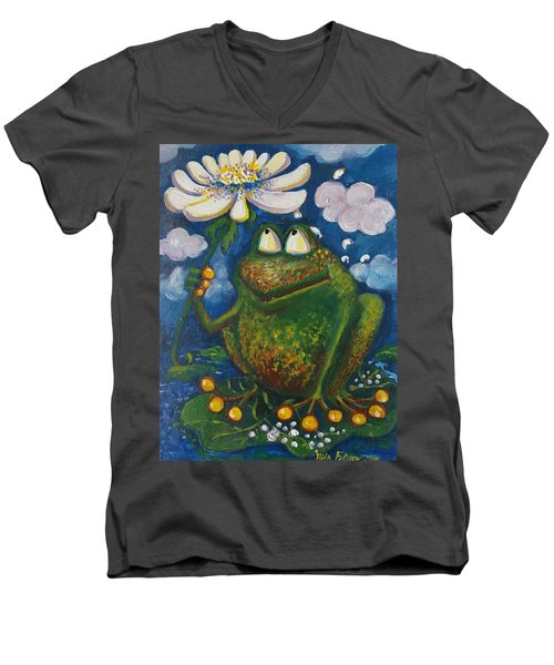 Frog In The Rain Men's V-Neck T-Shirt