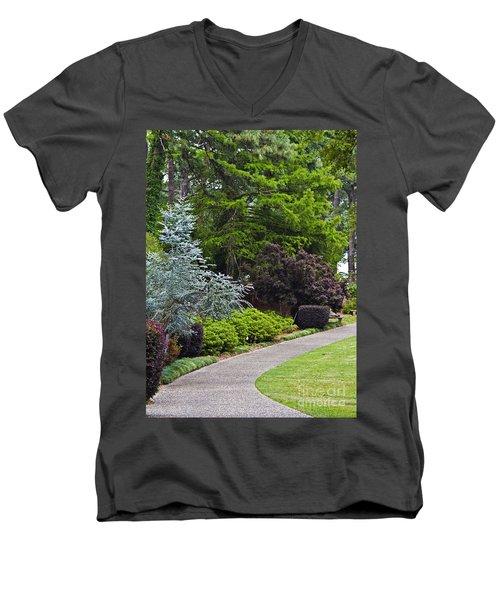 A Garden Walk Men's V-Neck T-Shirt