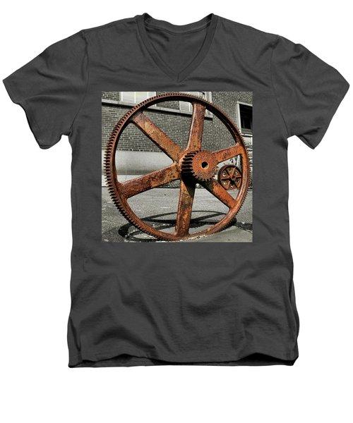 A Gear In A Gear Men's V-Neck T-Shirt