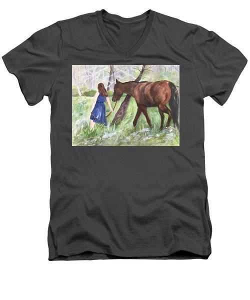 A Girl's Best Friend Men's V-Neck T-Shirt