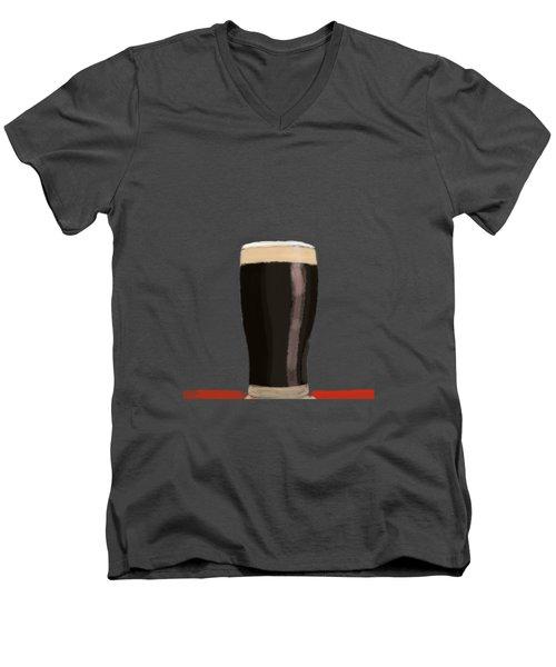 A Glass Of Stout Men's V-Neck T-Shirt by Keshava Shukla