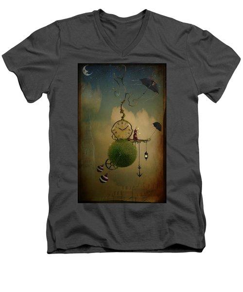 A Glitch In Time Men's V-Neck T-Shirt