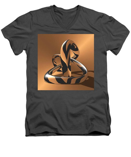 A Golden Anaconda Men's V-Neck T-Shirt