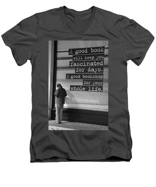 A Good Book Men's V-Neck T-Shirt