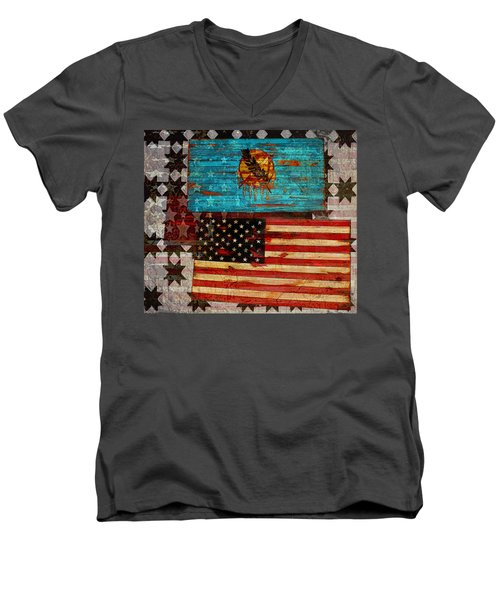 A Good Day In The Usa Men's V-Neck T-Shirt