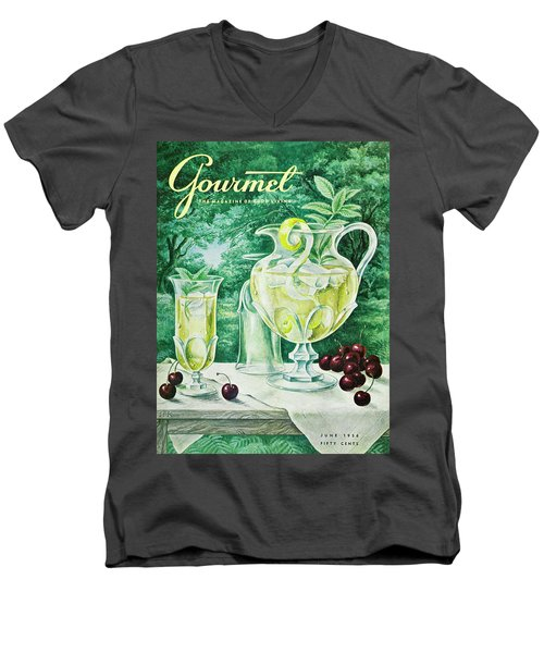 A Gourmet Cover Of Glassware Men's V-Neck T-Shirt