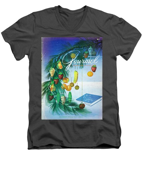 A Gourmet Cover Of Marzipan Fruit Men's V-Neck T-Shirt