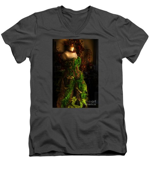 A Gown For A Faerie Princess Men's V-Neck T-Shirt by William Fields