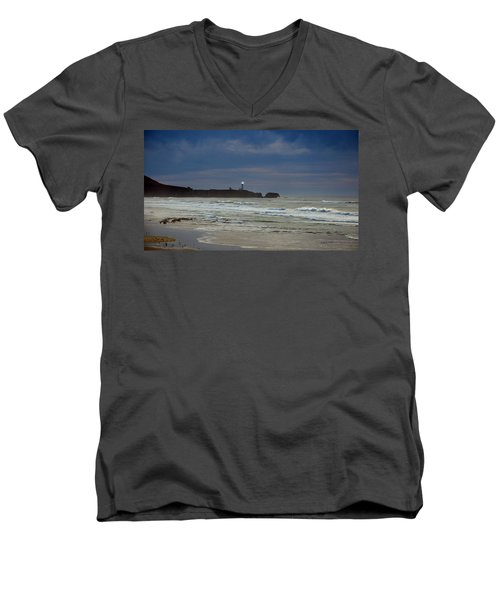 A Guiding Light Men's V-Neck T-Shirt by Jim Walls PhotoArtist