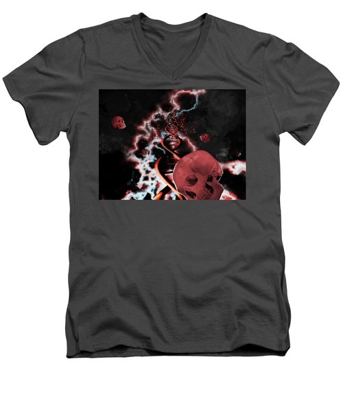 A Hard Rain's A Gonna Fall Men's V-Neck T-Shirt