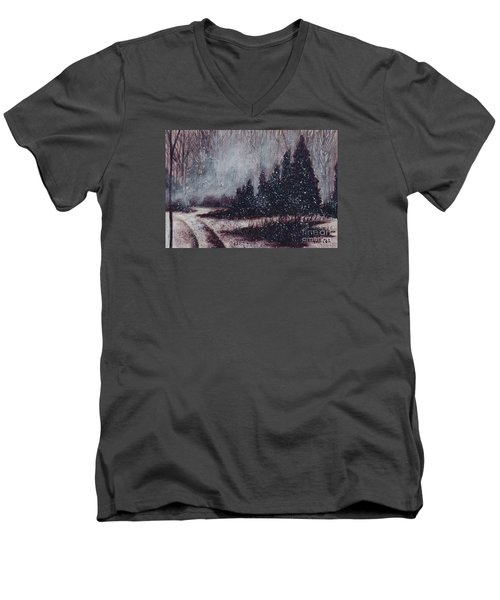 A Hazy Shade Of Winter  Men's V-Neck T-Shirt