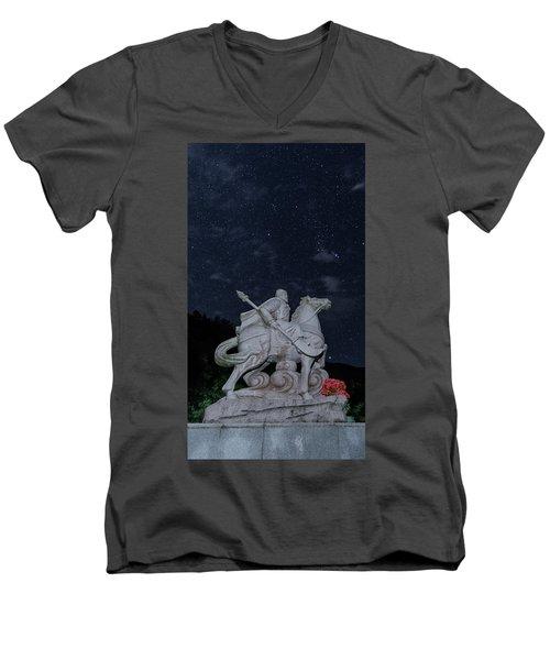A Hero's Starscape Men's V-Neck T-Shirt