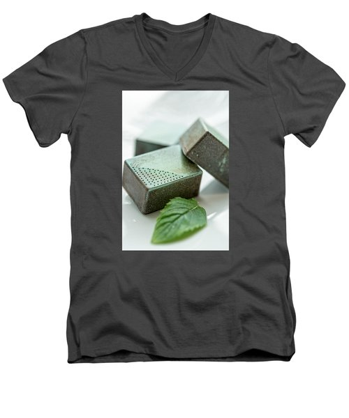A Hint Of Mint Men's V-Neck T-Shirt by Sabine Edrissi