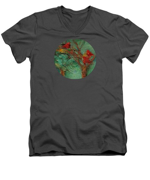 A Home In The Woods Men's V-Neck T-Shirt by Mary Wolf