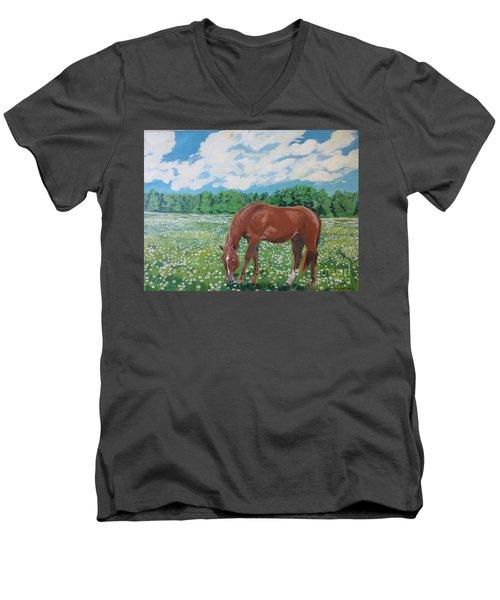 A Horse Named Dante Men's V-Neck T-Shirt