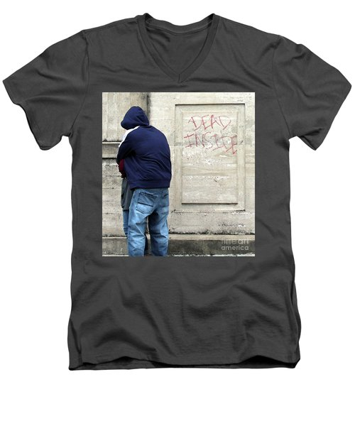 Men's V-Neck T-Shirt featuring the photograph A Hug by Joe Jake Pratt