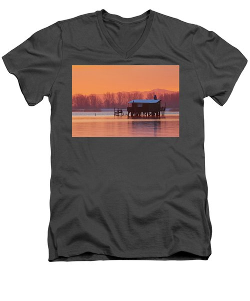 A Hut On The Water Men's V-Neck T-Shirt