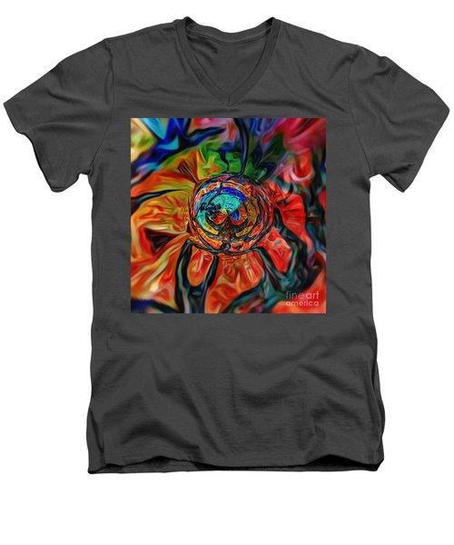 A Kind Of Flower Men's V-Neck T-Shirt