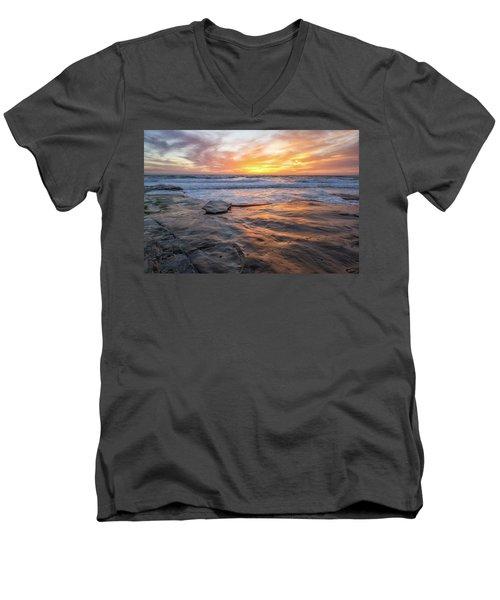 A La Jolla Sunset #2 Men's V-Neck T-Shirt