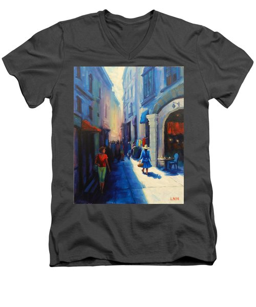 A Lady From Cajamarca In The City, Peru Impression Men's V-Neck T-Shirt