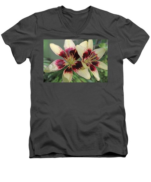 A Lily Among The Thorns Men's V-Neck T-Shirt