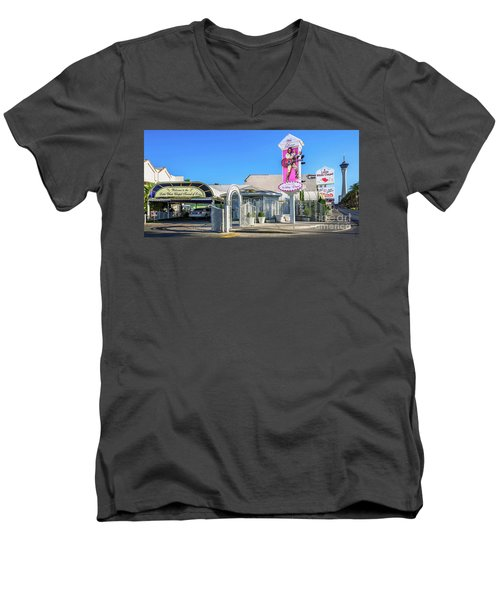 A Little White Chapel From The North 2 To 1 Ratio Men's V-Neck T-Shirt by Aloha Art