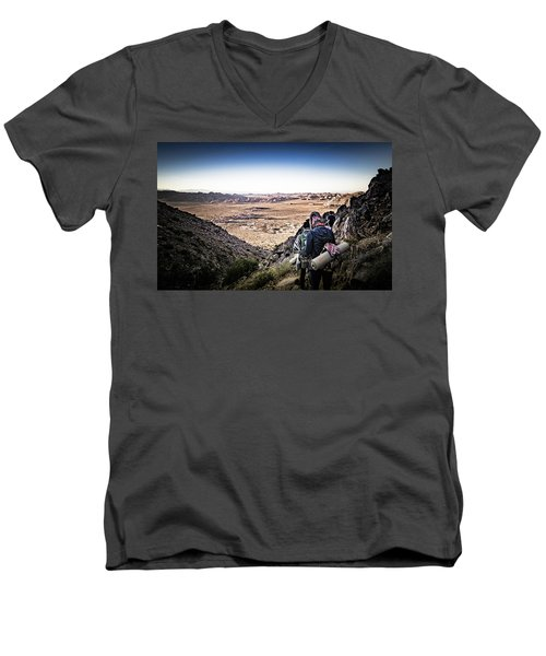 A Long Walk Through Joshua Tree Men's V-Neck T-Shirt