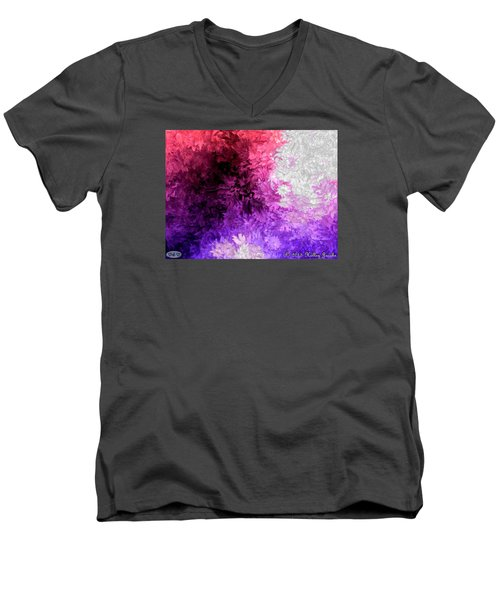A Lotta Fight Men's V-Neck T-Shirt by Holley Jacobs