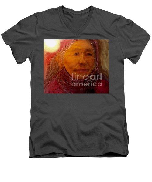 A Luminous World Men's V-Neck T-Shirt