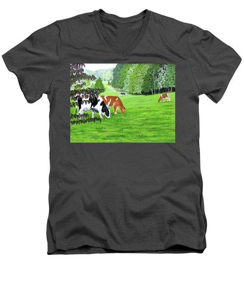 A Lush Summer Pasture Men's V-Neck T-Shirt