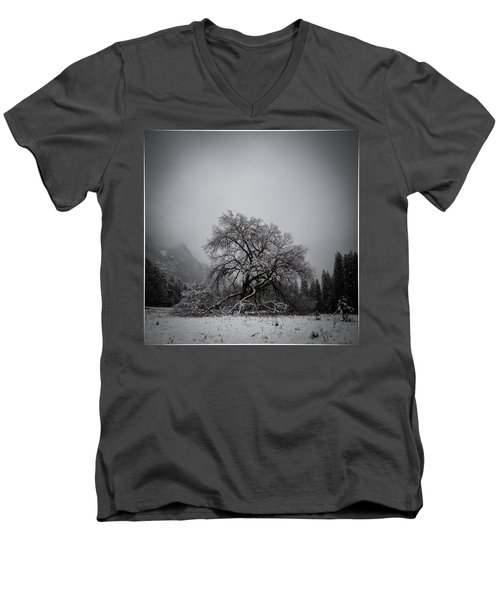 Men's V-Neck T-Shirt featuring the photograph A Magic Tree by Lora Lee Chapman