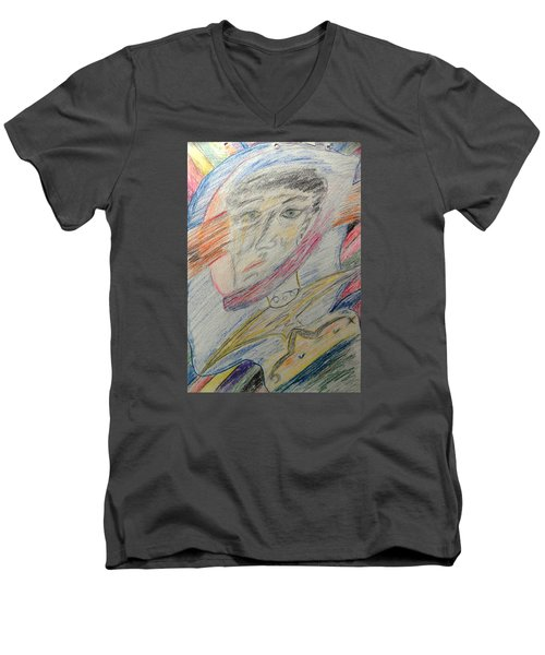 A Man And His Thoughts Men's V-Neck T-Shirt
