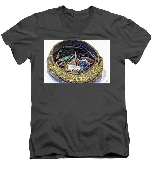 Men's V-Neck T-Shirt featuring the photograph A Man's Items by Walt Foegelle