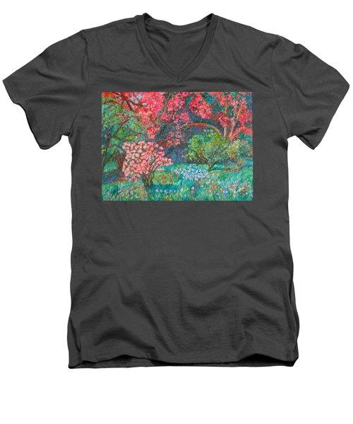 A Memory Men's V-Neck T-Shirt by Kendall Kessler