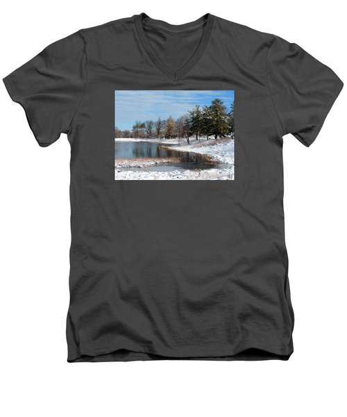 A Mild Winter Morning Men's V-Neck T-Shirt