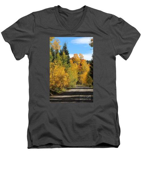 A Miraculous Autumn Vista Iv Men's V-Neck T-Shirt