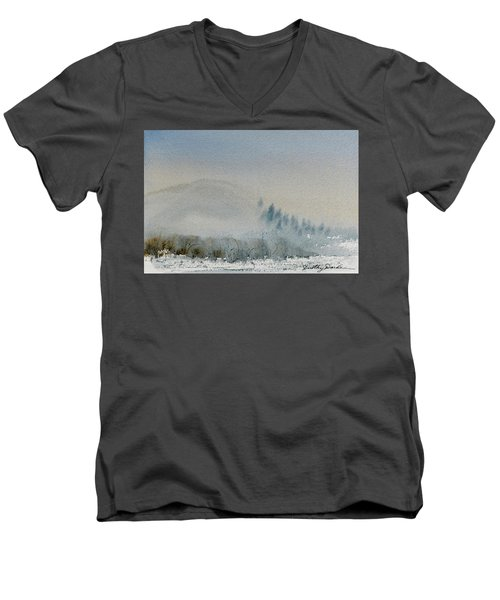 A Misty Morning Men's V-Neck T-Shirt