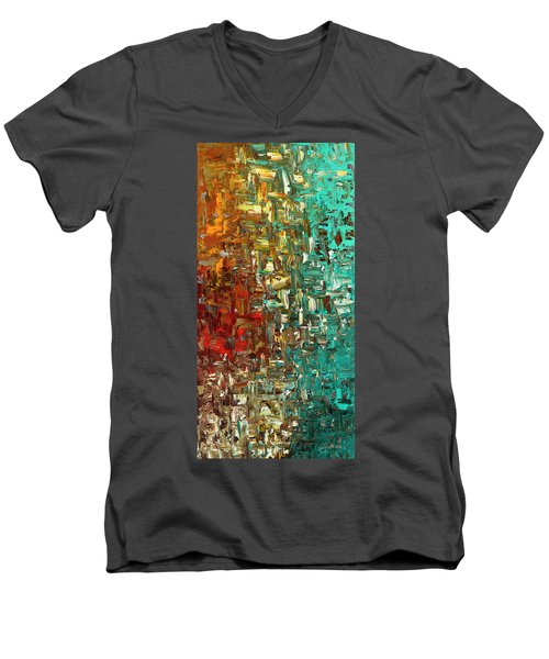 A Moment In Time - Abstract Art Men's V-Neck T-Shirt