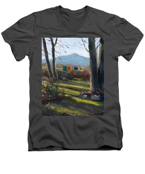 A Moment In Time Men's V-Neck T-Shirt