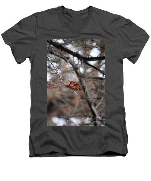A Monarch For Granny Men's V-Neck T-Shirt by Alycia Christine