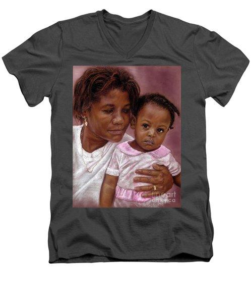 A Mother's Love Men's V-Neck T-Shirt