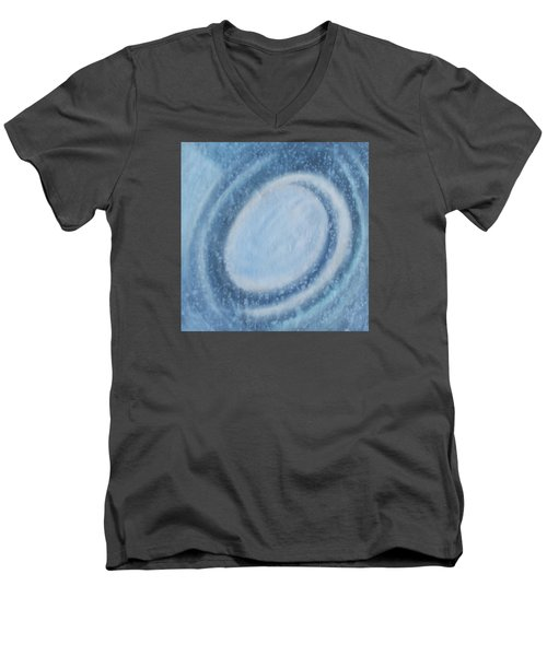 Men's V-Neck T-Shirt featuring the painting A Moving by Min Zou