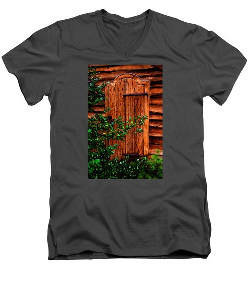 Men's V-Neck T-Shirt featuring the photograph A Mystery by Richard Ortolano