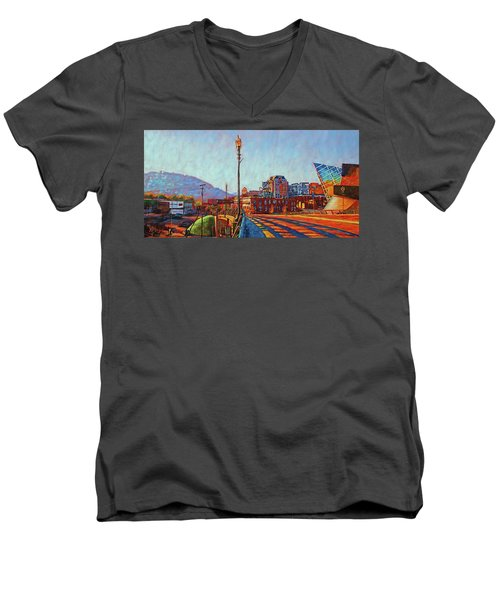 A New Day Men's V-Neck T-Shirt by Bonnie Mason