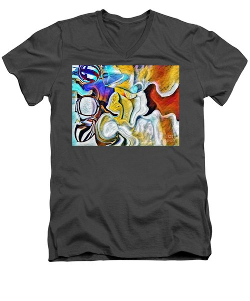 A New Day Coming Men's V-Neck T-Shirt by Kathie Chicoine
